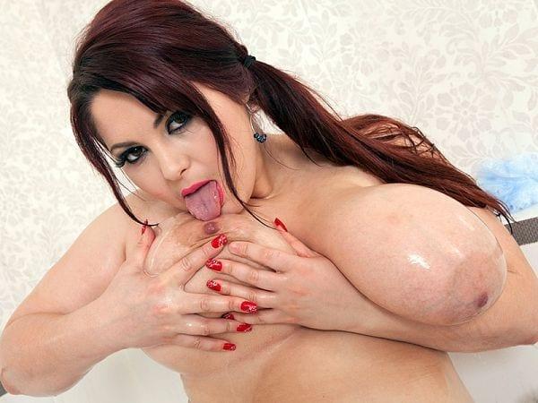 BBW Ann Calis big tits sucking hard
