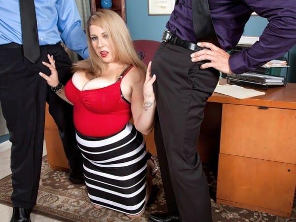 BBW Dani Moore threesome sex